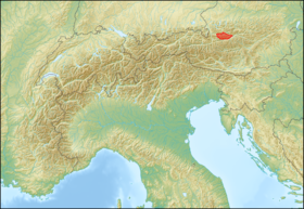 Alps location map (Dachsteingebirge).png