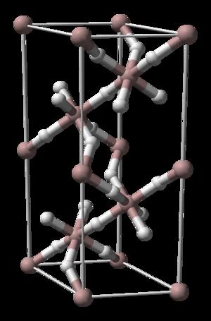 Aluminium hydride - Image: Aluminium hydride unit cell 3D balls