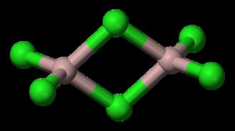 Aluminium chloride - Image: Aluminium trichloride dimer 3D balls