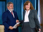 Presidente do Brasil recebe credenciais da Embaixadora da Noruega. Foto: Marcello Casal JR/ABr.