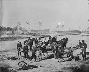 U.S. Ambulance Corps - U.S. Ambulance Corps field training. Photograph by William F. Browne