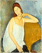 Amedeo Modigliani, 1919, Jeanne Hebuterne, oil on canvas, 91.4 x 73 cm, Metropolitan Museum of Art.jpg