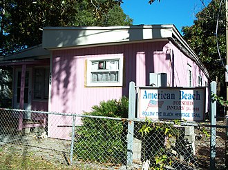 National Register of Historic Places listings in Nassau County, Florida - Image: American Beach FL HD house 02