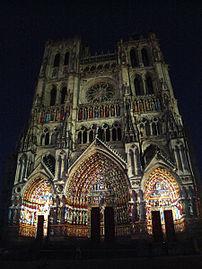 Amiens cathedral Son et lumière 001.JPG