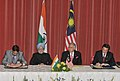 Anand Sharma and the Malaysian Minister of Health, Mr. Y.B. Dato' Sri Liow Tiong Lal signing an MoU in the field of Traditional Systems of Medicine, between India and Malaysia, in the presence of the Prime Minister.jpg