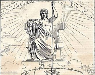 Ananke (mythology) - Ananke as represented by a modern illustration of Plato's Republic.