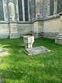 Ancient font, now outside St Mary's in Andover - geograph.org.uk - 2630691.jpg
