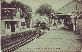 Andover Town railway station - Image: Andover Town railway station