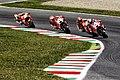 Andrea Dovizioso, Marc Márquez, Andrea Iannone and Dani Pedrosa 2015 Mugello.jpeg