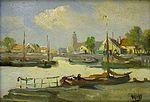 Andreas Dirks - Hafenszene mit Booten und Gebäuden.jpg