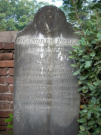 Andrew Pickens (congressman) - Andrew Pickens' grave marker at Old Stone Church cemetery