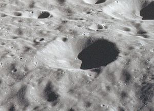 Andronov (crater) - Image: Andronov crater AS17 151 23235