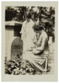 Anna Pollitzer (standing) and Alice Paul visit the grave of Susan B. Anthony in 1920.png
