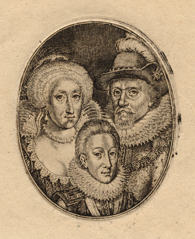 Anne of Denmark; King Charles I when Prince of Wales; King James I of England and VI of Scotland by Simon De Passe (2).jpg