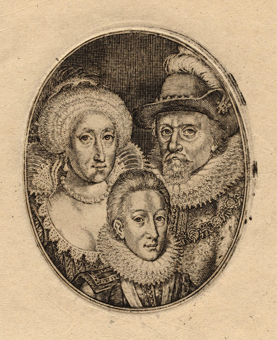 Anne of Denmark; King Charles I when Prince of Wales; King James I of England and VI of Scotland by Simon De Passe (2)