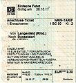 Anschluss-Ticket zum NRW-Tarif Deutsche Bahn - Langenfeld-Düsseldorf 2017.jpg