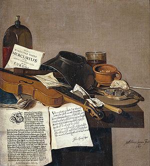 Anthonie Leemans - Image: Anthonius Leemans Stilleven met een exemplaar van De Waere Mercurius