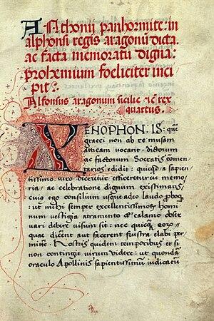 Antonio Beccadelli (poet) - Anthonii Panhormite, in Alphonsi Regis Aragonum dicta ac facta memoratum digna.
