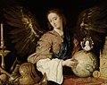 Antonio de Pereda - Allegory of Vanity - angel admonitor con la esfera del mundo y camafeo.jpg