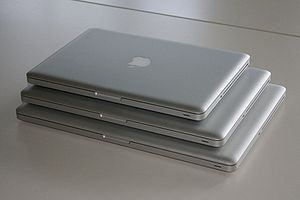 MacBook Pro - A size comparison of the unibody line of MacBook Pro laptops