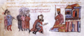 Arab captives are brought before Emperor Romanos III.png