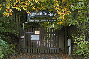 Royal Saxon Academy of Forestry - Entrance gate, Forstbotanischer Garten