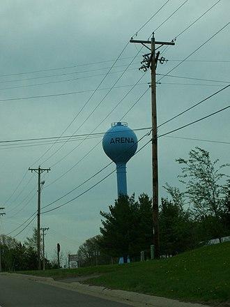 Arena, Wisconsin - Water tower