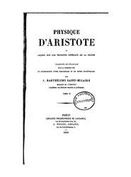 Aristote: Physique d'Aristote