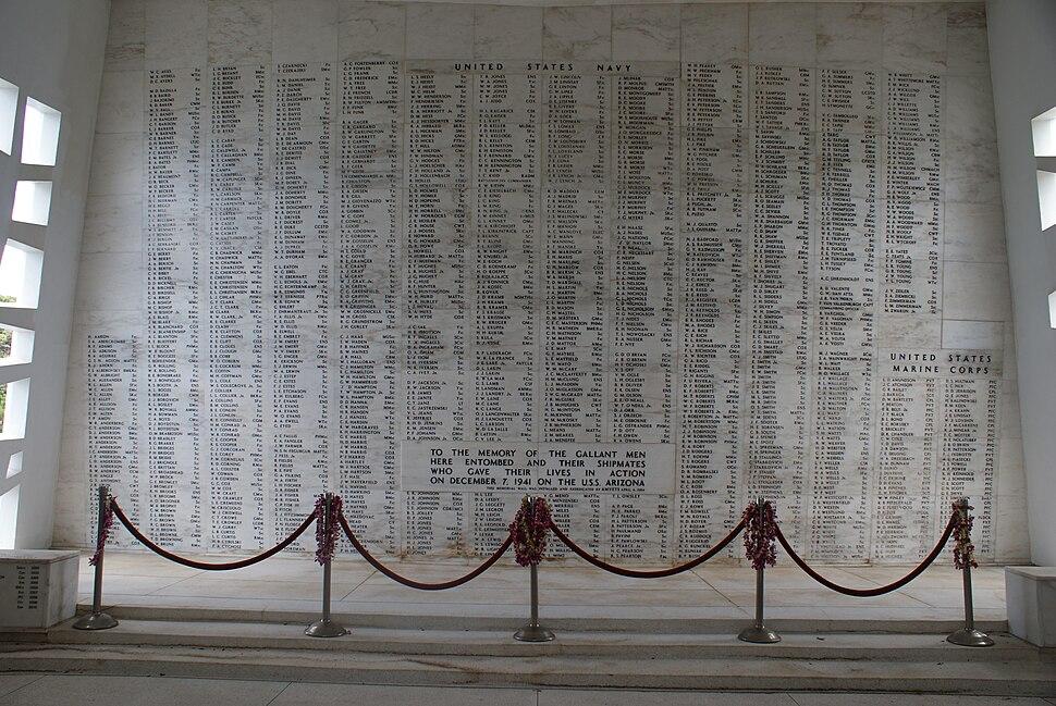 Arizona Memorial Wall