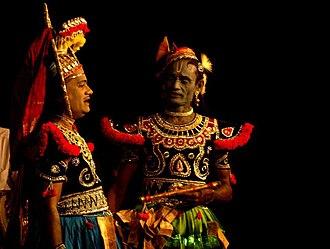 Koothu - Artists portraying Krishna and Arjuna