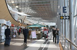 Stockholm Arlanda Airport - Shopping and restaurant area in Sky City between terminals 4 and 5
