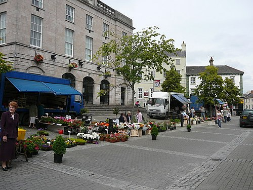 Open-air market on Market Street Armagh Library and open air market - geograph.org.uk - 647704.jpg