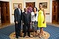 Armando Guebuza with Obamas 2014.jpg