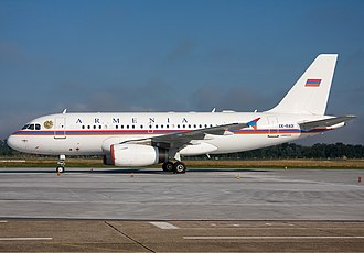 Air transports of heads of state and government - Armenian Air Force Airbus A319