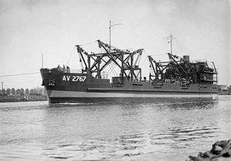 Australian Army ship Crusader (AV 2767) - Crusader in December 1945