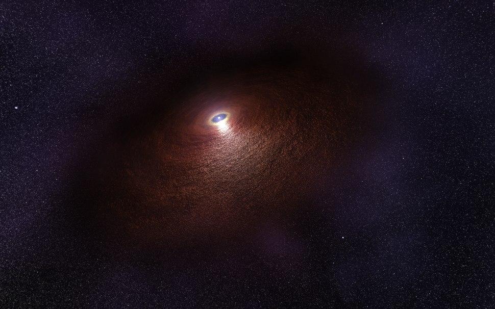 Artist's impression of disc around a neutron star RX J0806.4-4123