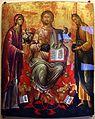 Artista forse cretese, deesis (madonna e s. giovanni pregano cristo per l'umanità), xvi secolo.jpg