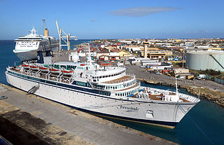 <i>Freewinds</i> Ship on which the Church of Scientology delivers its high-level courses