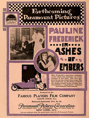 Pauline Frederick - Ashes of Embers (1916)