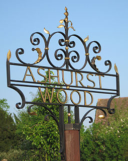 Ashurst Wood Human settlement in England