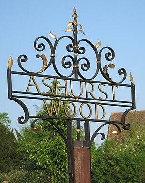 Ashurst Wood - Image: Ashurst Wood signpost