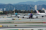 Asiana Airlines and Korean Air Airbus A380 at LAX (22922345152).jpg