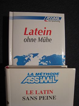 Assimil latin, french and german edition.jpg