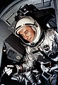 Astronaut Virgil I. Grissom is shown in the GT-3 spacecraft just before the hatches are secured prior to launch.jpg