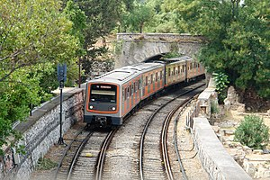 A train of Athens-Piraeus Electric Railways pa...