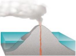 Atoll forming-volcano