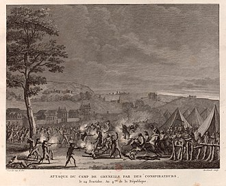 Conspiracy of the Equals - Depiction of the unrest in the military camp of Grenelle