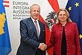 Außenministerin Karin Kneissl empfängt den kosovarischen Außenminister und Vize-Premierminister Behgjet Pacolli (42201658044).jpg