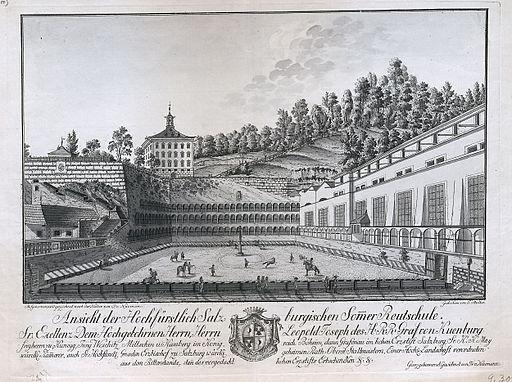 August Franz Heinrich von Naumann Ansicht der hochfürstlichen salzburgischen Sommer-Reutschule ubs G 0300 III