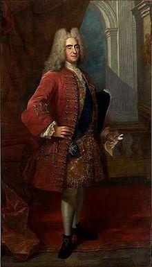 König August II. im Hofkostüm sowie mit der Schärpe des Ordens vom Weißen Adler (Quelle: Wikimedia)